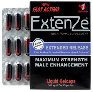 Extenze Male Enhancement Pills open box